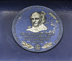 Photo of William Henry Duncan blue plaque
