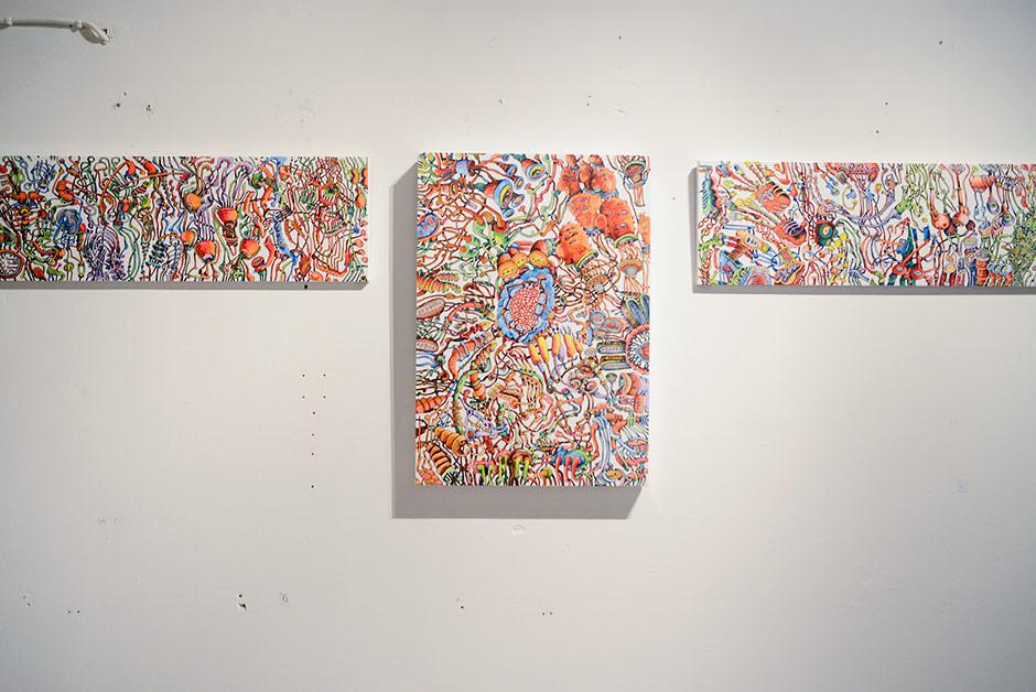 Petri Kulju's Art Show Opening at Galleria Kooma