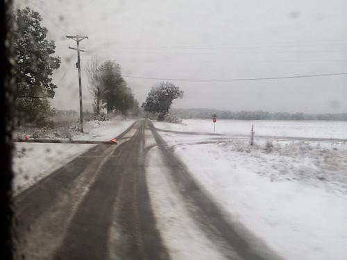 snow train us view unitedstates michigan amtrak dowagiac
