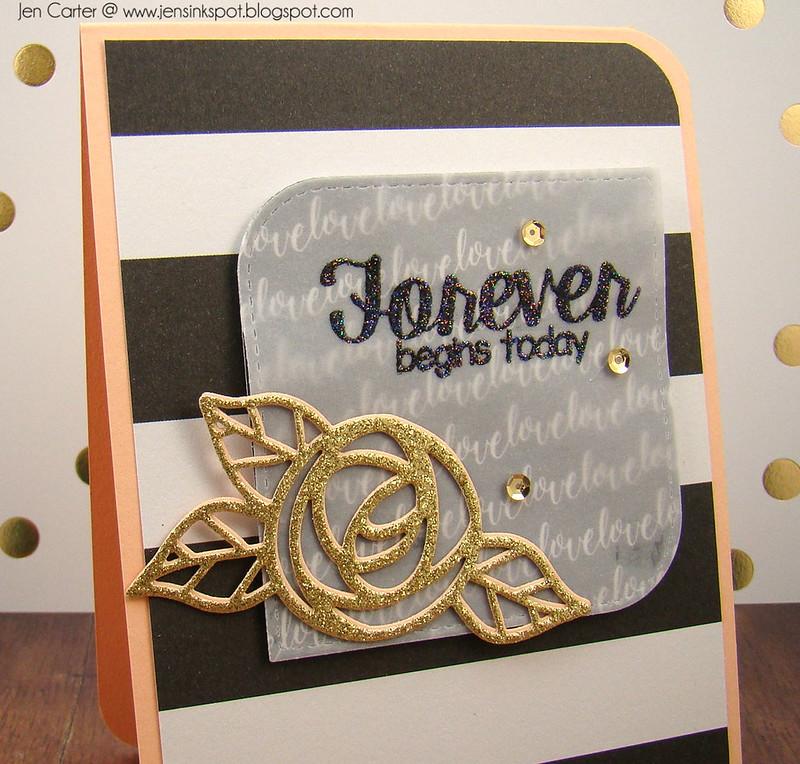 Jen Carter Forever Gold Rose Closeup