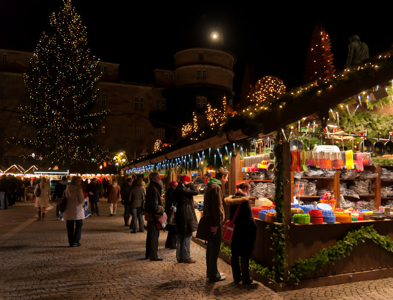 Christmas Market in Stuttgart, Germany. Credit LenDog64