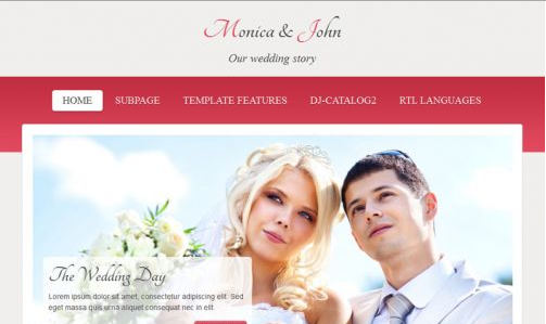 JoomlaMonster JM Wedding06 v1.02 - Joomla Template