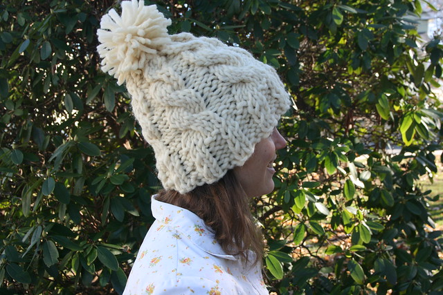 The Chunky Cable Knit Hat by Lula Louise Pattern and Branch