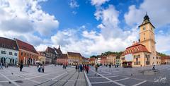 Sfatului square, Brasov, Romania (Panorama).