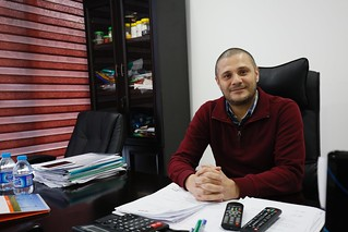 Hosni, a Syrian businessman who moved his plastic packaging factory to Jordan
