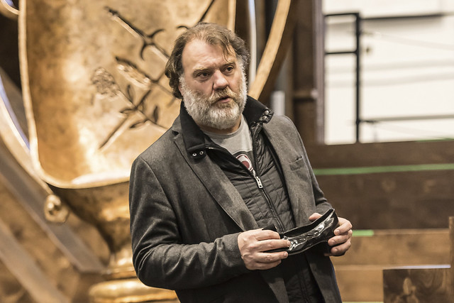 Bryn Terfel as Hans Sachs in rehearsal for Die Meistersinger von Nürnberg, The Royal Opera © 2017 ROH. Photograph by Clive Barda