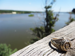 Aggie Ring on the Illinois River