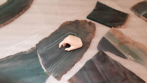 鉱石ナイフ作り
