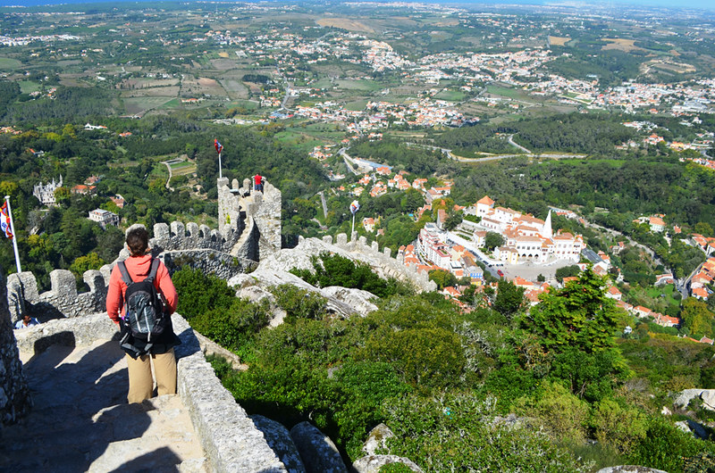 View from Moorish Palace, Sintra, Portugal
