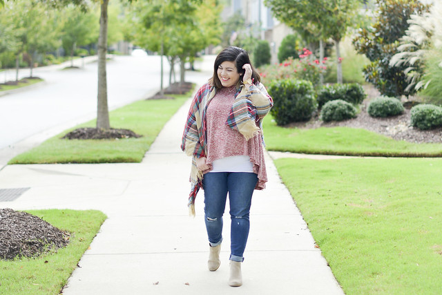 Plaid Blanket Scarf, Head to Toe Chic