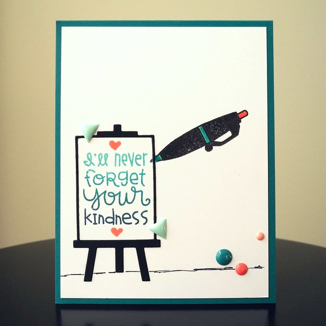 Your Kindness by Jennifer Ingle #JustJingle #PaperSmooches #Cards