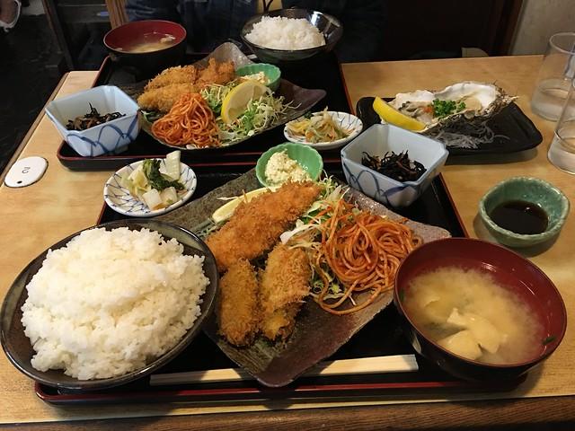 秋鮭とカキフライ定食_IMG_0454
