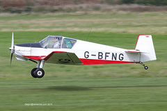 G-BFNG - 1966 Wassmer built Jodel D112, arriving on Runway 26R at Barton