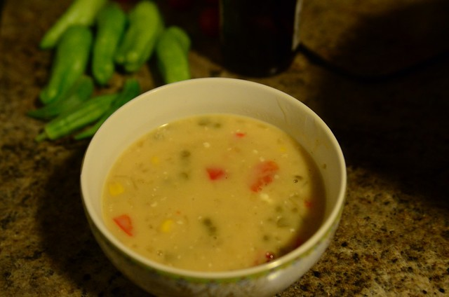 ten soups project: ham and corn chowder