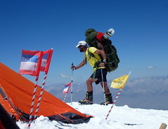 Slava arriving at Camp 3 (6100m) carrying ~30 kg
