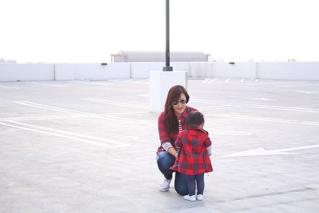 simplyxclassic, mommy and me, style, mommy blogger, buffalo plaid, jcrew, crew cuts, mini me, fashion blogger, orange county, stripes,