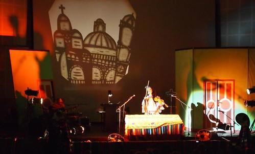 Presentación del Grupo mexicano de Teatro AABA en Addis Abeba