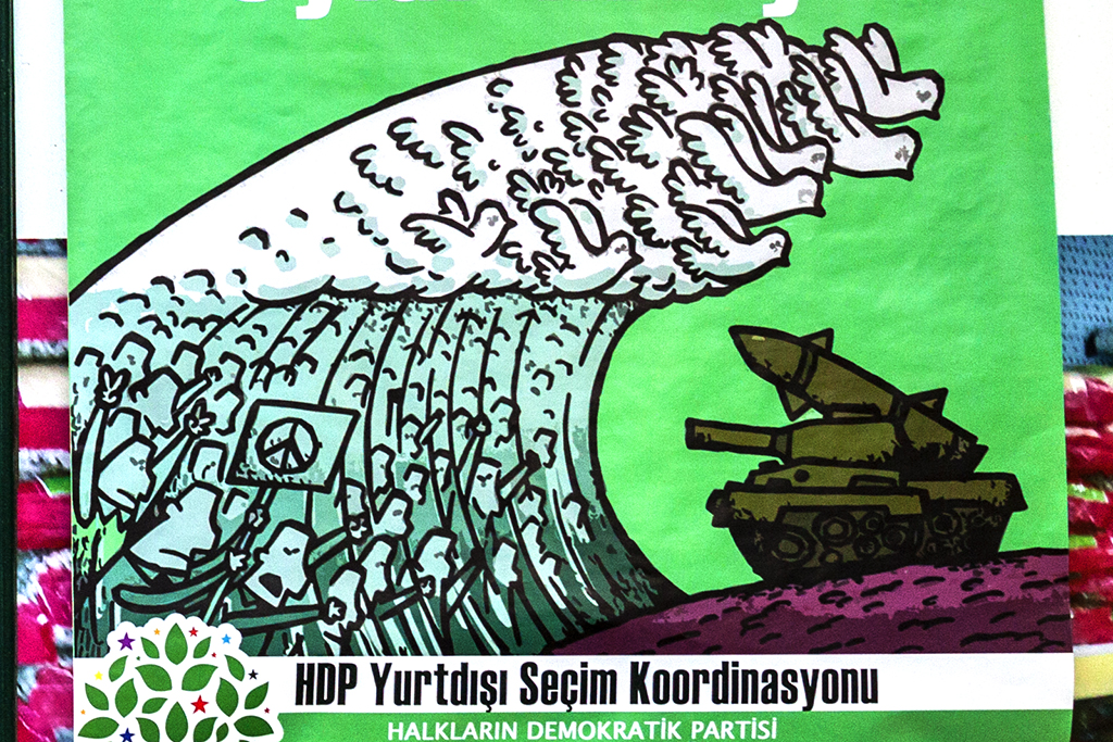 HDP posters in Neustadt--Leipzig (detail)