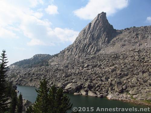 Sundance Pinnacle over North Lake, Jackass Pass, Wind River Range, Wyoming