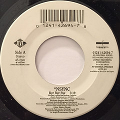 *NSYNC:BYE BYE BYE(LABEL SIDE-A)