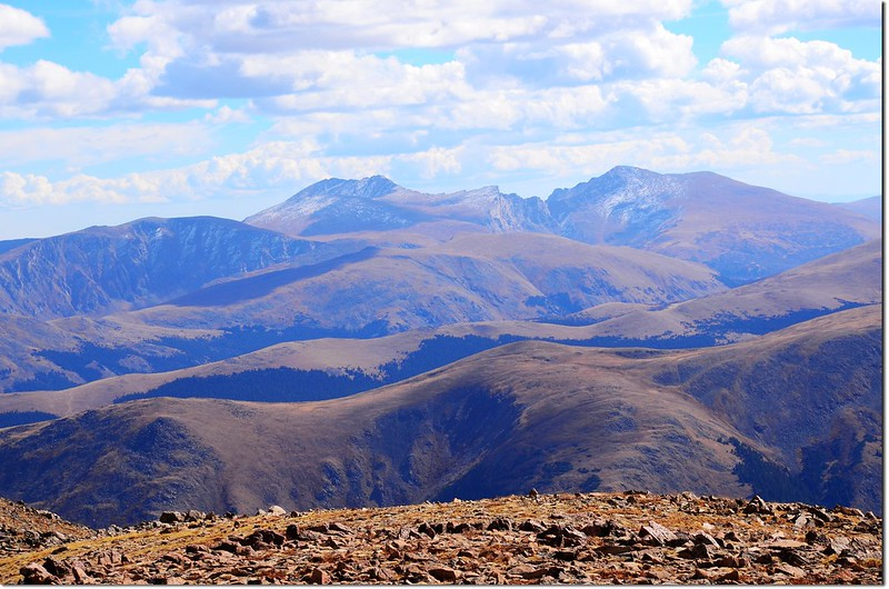Mount Evans(L) & Bierstadt(R) from the summit of Bard Peak 2