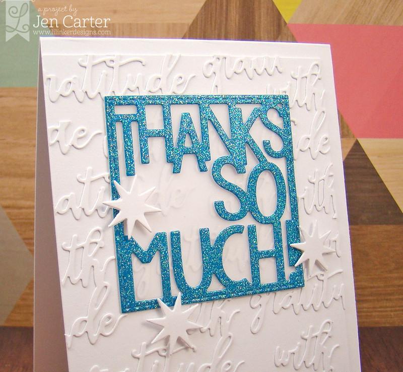 Jen Carter Thanks so Much Closeup
