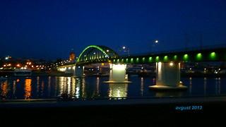 """""""Old Sava Bridge"""", river Sava, Belgrade, Serbia, August 2013; Stari Savski most, reka Sava, Beograd, Srbija, 2013 godine."""
