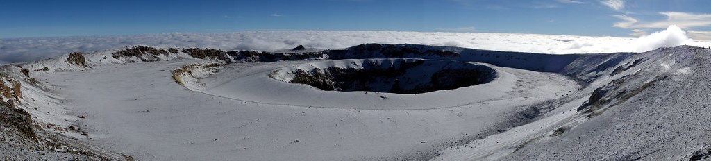 Kilimanjaro's inner crater and Ash Pit
