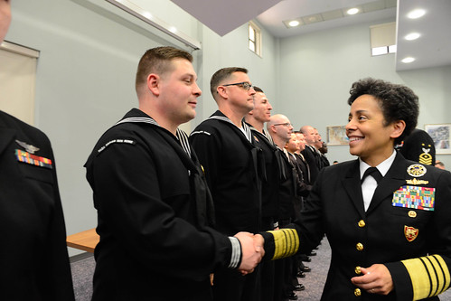 Fri, 01/27/2017 - 10:36 - 170127-N-SS492-561 NAVAL SUPPORT ACTIVITY NAPLES, Italy (Jan. 27, 2017) Commander, U.S. Naval Forces Europe-Africa, Adm. Michelle Howard, right, shakes handswith  and presents a coin to Electronics Technician 1st Class Justin Sites at the Commander, U.S. Naval Forces Europe-Africa Sailor of the Year ceremony Jan. 27, 2017.  U.S. Naval Forces Europe-Africa, headquartered in Naples, Italy, oversees joint and naval operations, often in concert with allied, joint, and interagency partners, to enable enduring relationships, and increase vigilance and resilience in Europe and Africa. (U.S. Navy photo by Chief Mass Communication Specialist Brian P. Biller/Released)