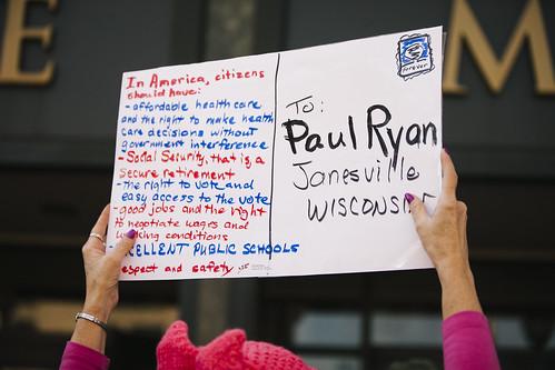Paul Ryan postcard delivery