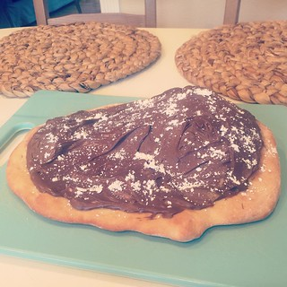 Nutella pizza for St. Clare (only a day late!)