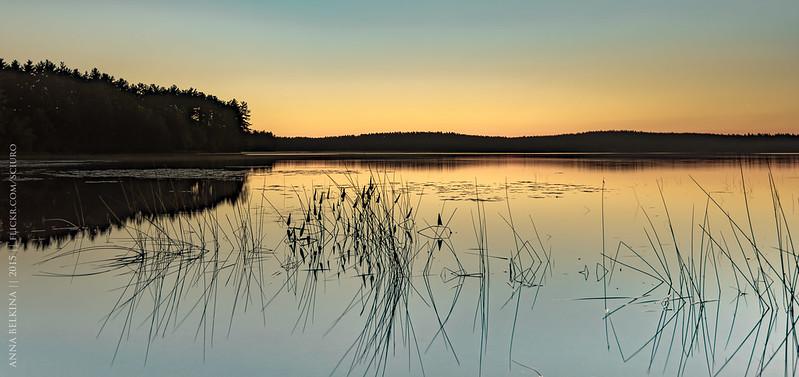 Sunrise at Lake Massabesic