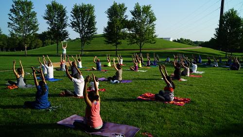 Yoga at Gold Medal Park