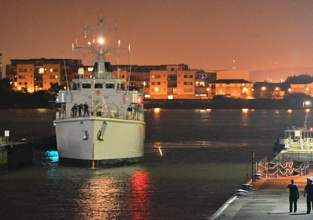 HMS Hurworth M39 (1) @ London's Royal Docks 12-09-15