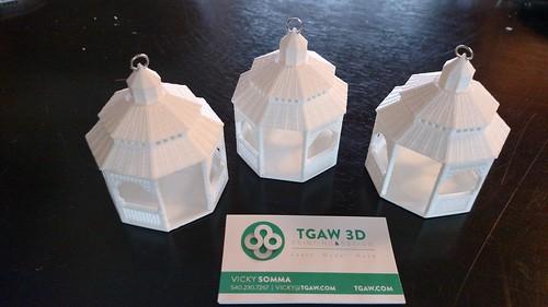 3D Printing - Mamie Davis Park Gazebo Ornament