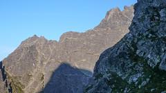 Żabi Mnich, NIżne Rysy z Kazalnicy, w zachodzšcym słońcu