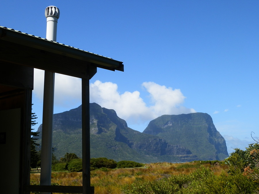 The most scenic loo in OZ?? Mounts Lidgbird and Gower, Lord Howe Island