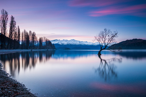 longexposure winter sunset newzealand lake snow mountains reflection nature canon landscape spring sigma southisland otago lakewanaka willowtree ndfilter leefilters canoneos70d canon70d leefiltersbigstopper sigma1835mmf18 thatwanakatree