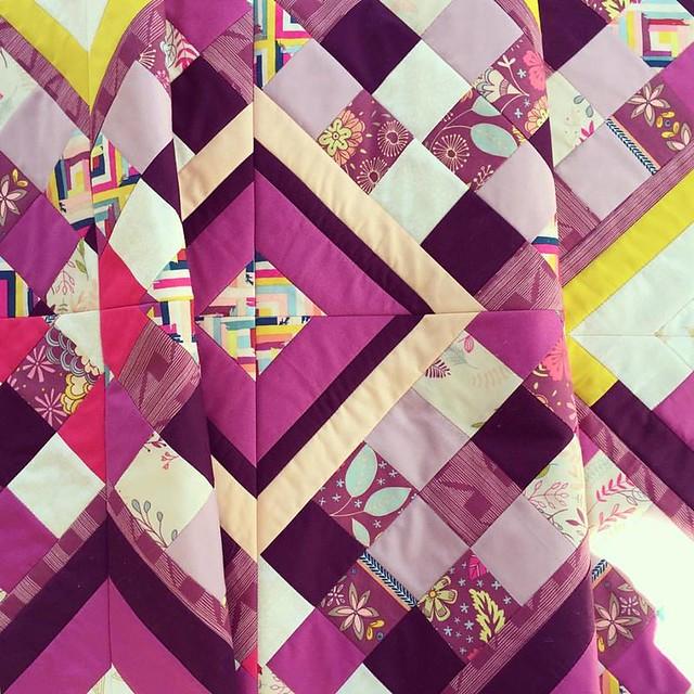 A Purple Quilt Start