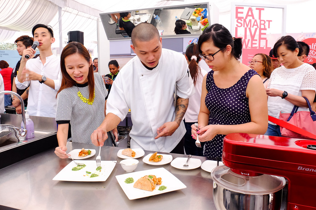 Food Tasting at the Healthy Lifestyle Festival SG