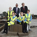 Education Minister cuts the sod on the new £20million Castle Tower School, Ballymena - 4 November 2015