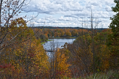 autumn trees water landscape colours scenic rideaucanal whitefishlake jonesfalls