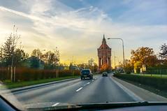 Wrocław from a car