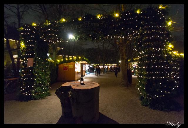 Entrada al Mercado de Navidad Chinesischer Turm de Munich