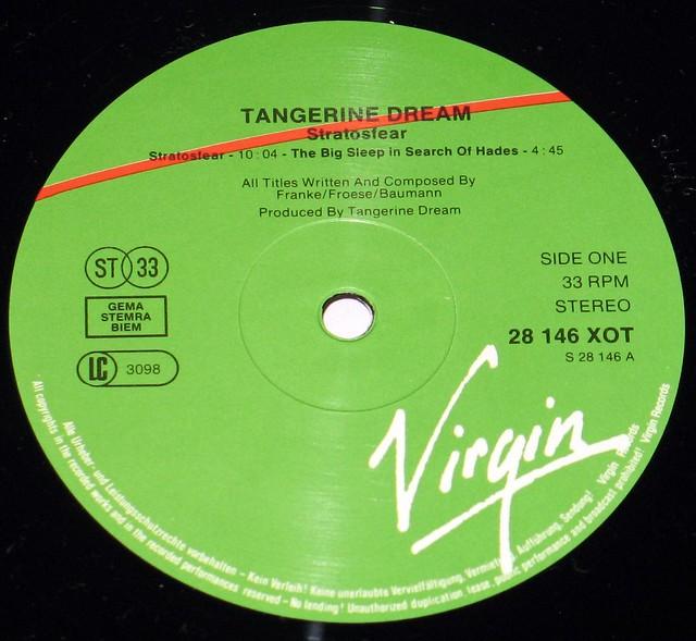 "Tangerine Dream Stratosfear 12"" vinyl LP"