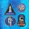 Space patch NASA Space Circular Logo Iron on Patch Embroidered Iron-On Patches sew on patches Applique
