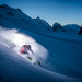 End of the day, powder and a freerider with Adrien Coirier by Tristan Shu