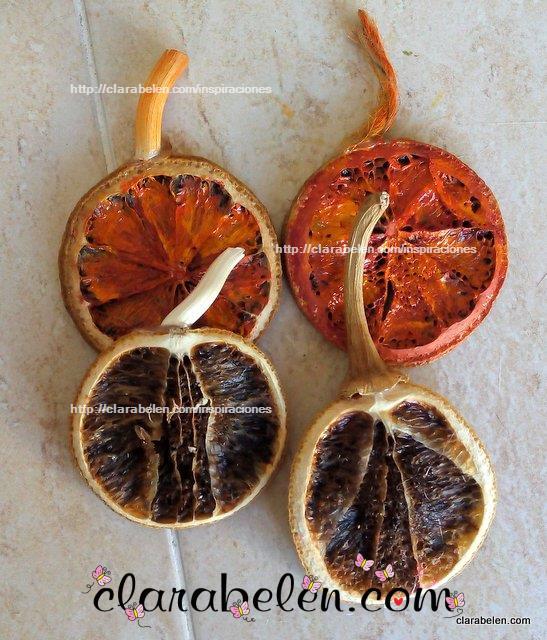 Naranjas secas para decorar