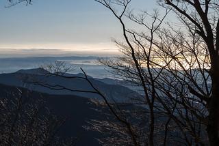 江の島@堀山の家手前の稜線