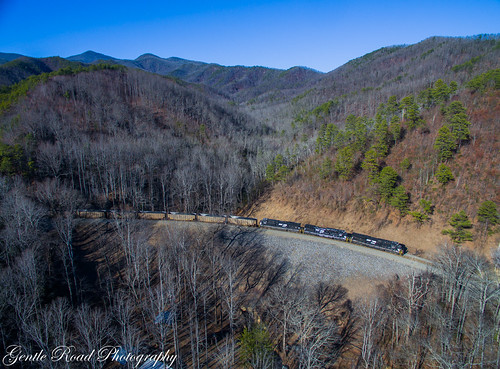 drone old fort loops north carolina norfolk southern train coal